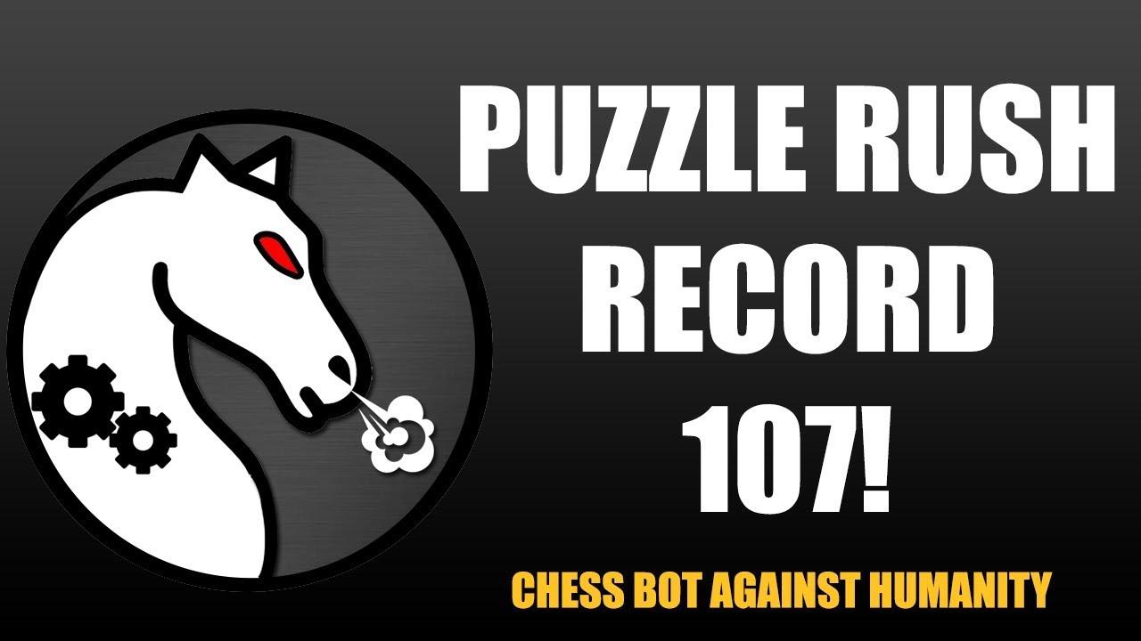 Puzzle Rush record! (Chess bot fun)