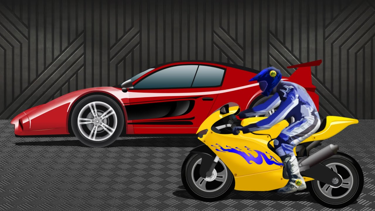 Sports Car Vs Sports Bike Race Video Kids Racing Video Youtube