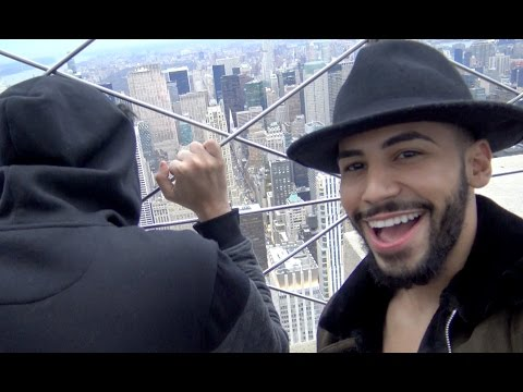 FALLING OFF EMPIRE STATE BUILDING PRANK!!