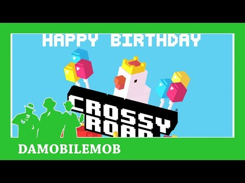 ★ CROSSY ROAD Happy Birthday 3 Update | Pecking Order, Mystery Boxes, Birthday Chicken (Dec 2017)