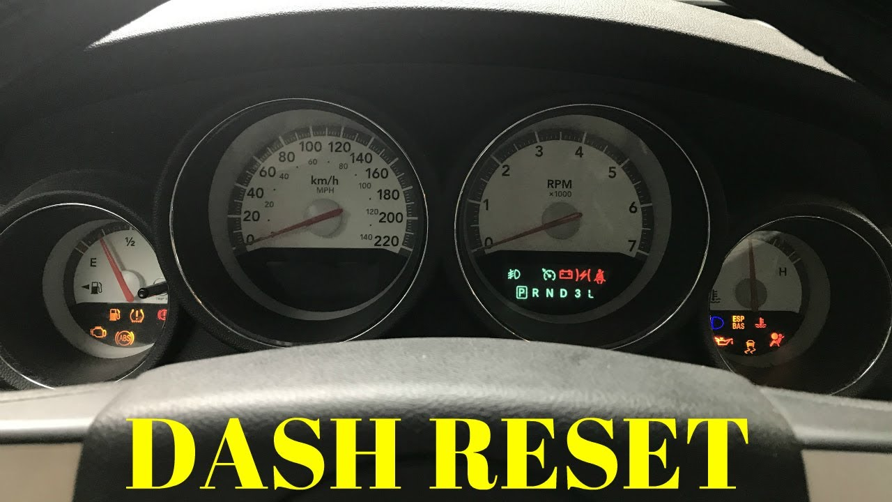 hight resolution of how to 8 reset cluster gauge dashboard 2006 2010 dodge charger other lx models