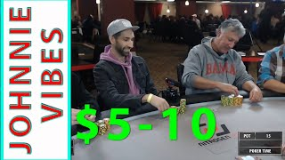 Poker Time: Johnnie Vibes plays $5-10