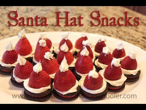 ad368af161029 DIY  Santa Hat Snacks - YouTube