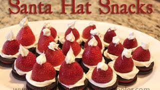Diy: Santa Hat Snacks