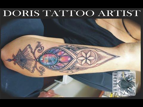 Mandala 3d jewel tattoo Doris Aluf