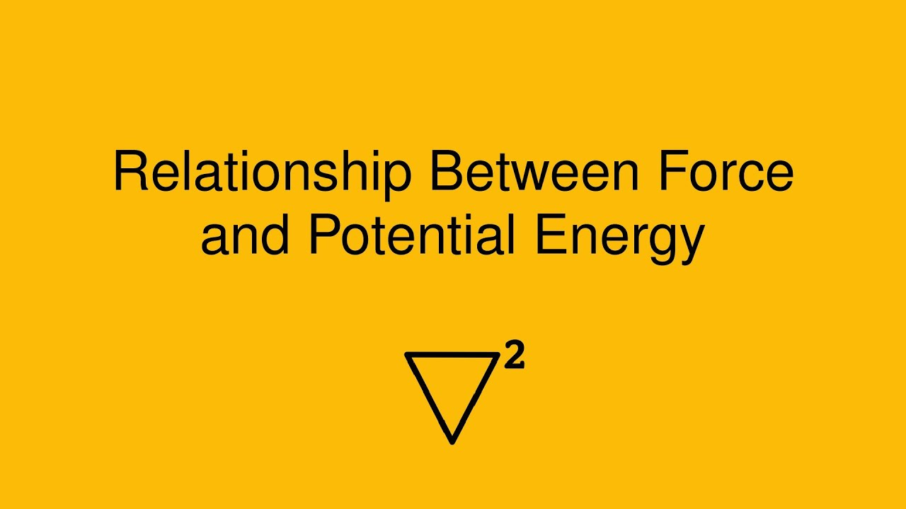 potential energy and power relationship