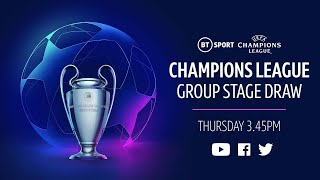 UEFA Champions League 2020/21 group stage draw featuring Liverpool, Man City, Man Utd and Chelsea