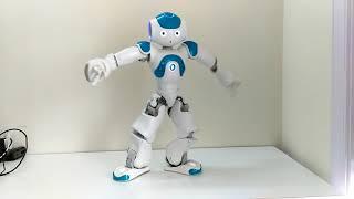 Humanoid robot Nao dancing