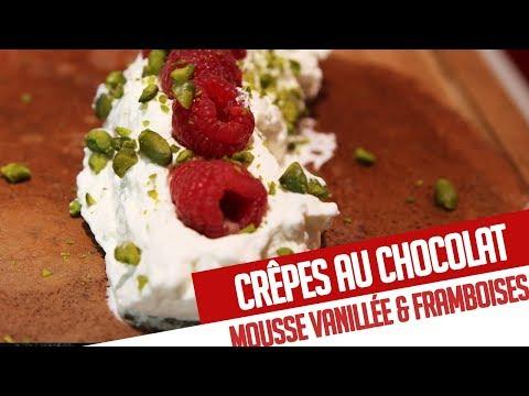 crÊpes-au-chocolat,-mousse-vanillÉe-&-framboises-–-recette-chef-valentin