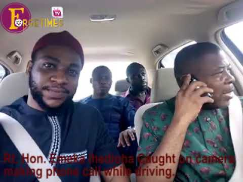 Rt. Hon. Emeka Ihedioha caught driving and making phone calls