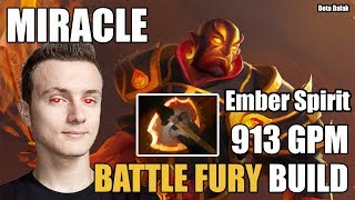 Miracle- [Ember Spirit] INSANE 913 GPM With Battle Fury Build - Dota 2