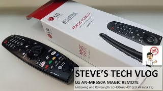 "LG AN-MR650A Magic Remote Unboxing and Review (for LG 49UJ63 49"" LED 4K HDR Smart TV)"