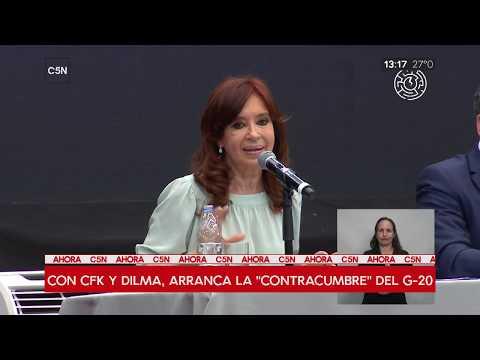Habla Cristina Kirchner en el Primer foro mundial del pensamiento crítico