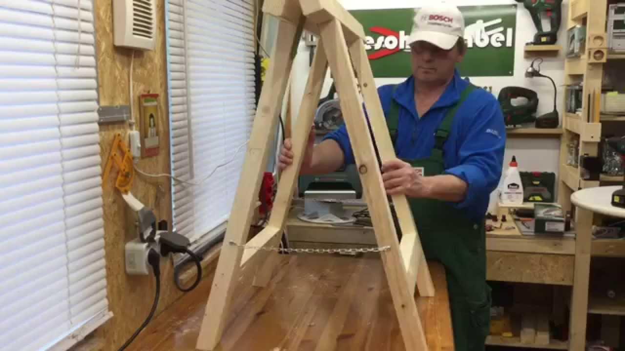 UnterstellKlappbcke schnell  einfach selbst machen make folding sawhorses  YouTube