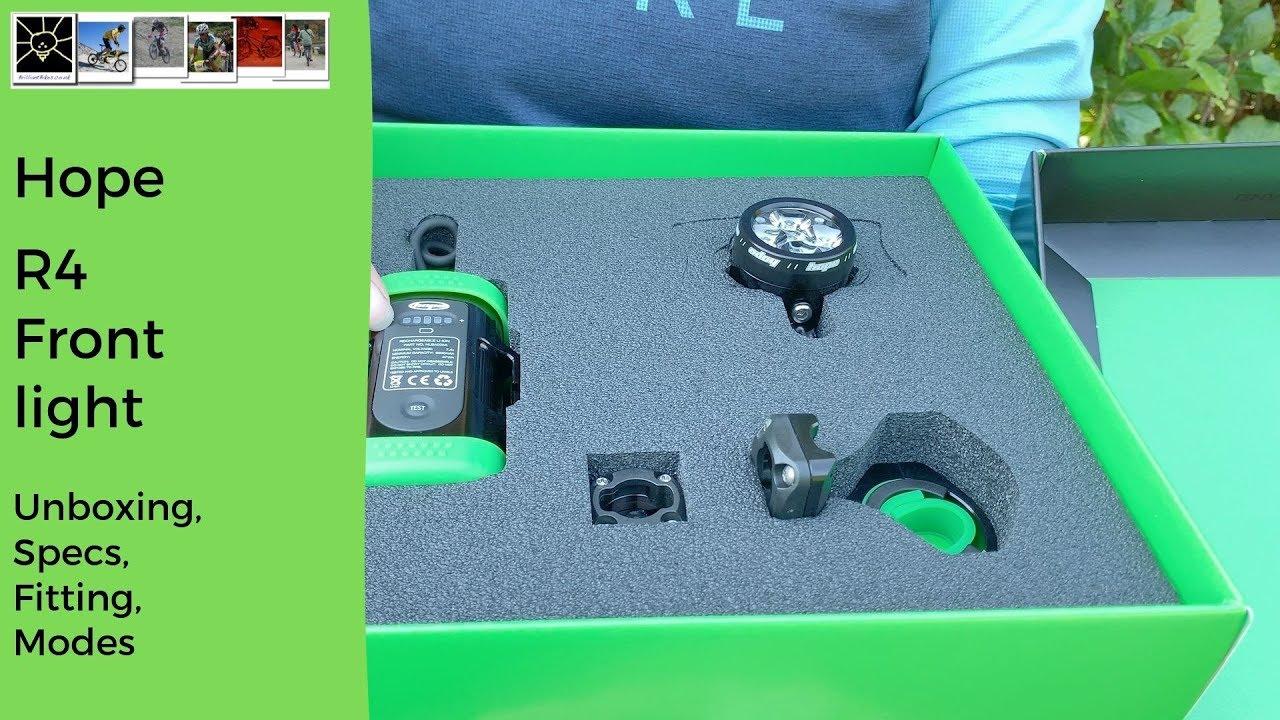 Std - 1 x 4 Cell ES Battery Hope R4+ LED Vision Bike Light 2000 Lumens