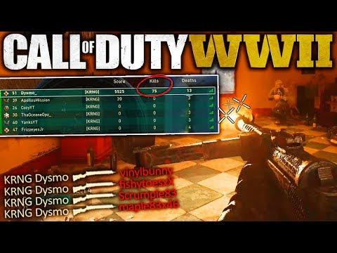 1 MAN GETS ALL 75 KILLS IN TEAM DEATHMATCH....(COD WW2 1 Man Army Challenge - BEST CLUTCH EVER!!)