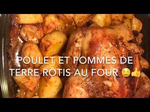 poulet-rÔti-et-ses-pommes-de-terre-au-four,-succulent-!!!-👍👍👍
