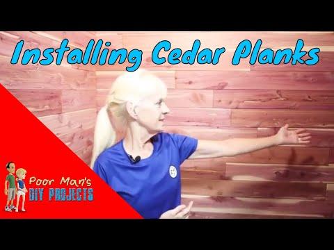 Poor Man's DIY Projects: Installing Cedar Planks In Closet