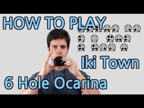 Iki Town (Night) - Pokémon Sun & Moon - 6 Hole Ocarina Tutorial