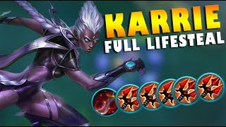 KARRIE FULL LIFESTEAL + PENTAKILL! INSANE GAMEPLAY