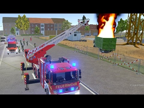 Emergency Call 112 Fire Fighting Simulation – Ladder Truck in Action! 4K