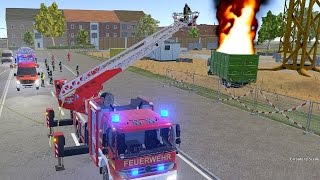Emergency Call 112 Fire Fighting Simulation - Ladder Truck in Action! 4K