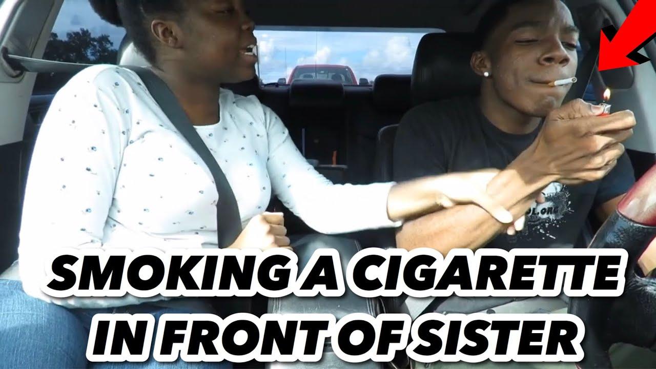 SMOKING CIGARETTE PRANK ON SISTER!!! - YouTube