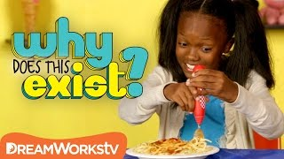 Kids Try Self Spinning Spaghetti Fork | WHY DOES THIS EXIST?