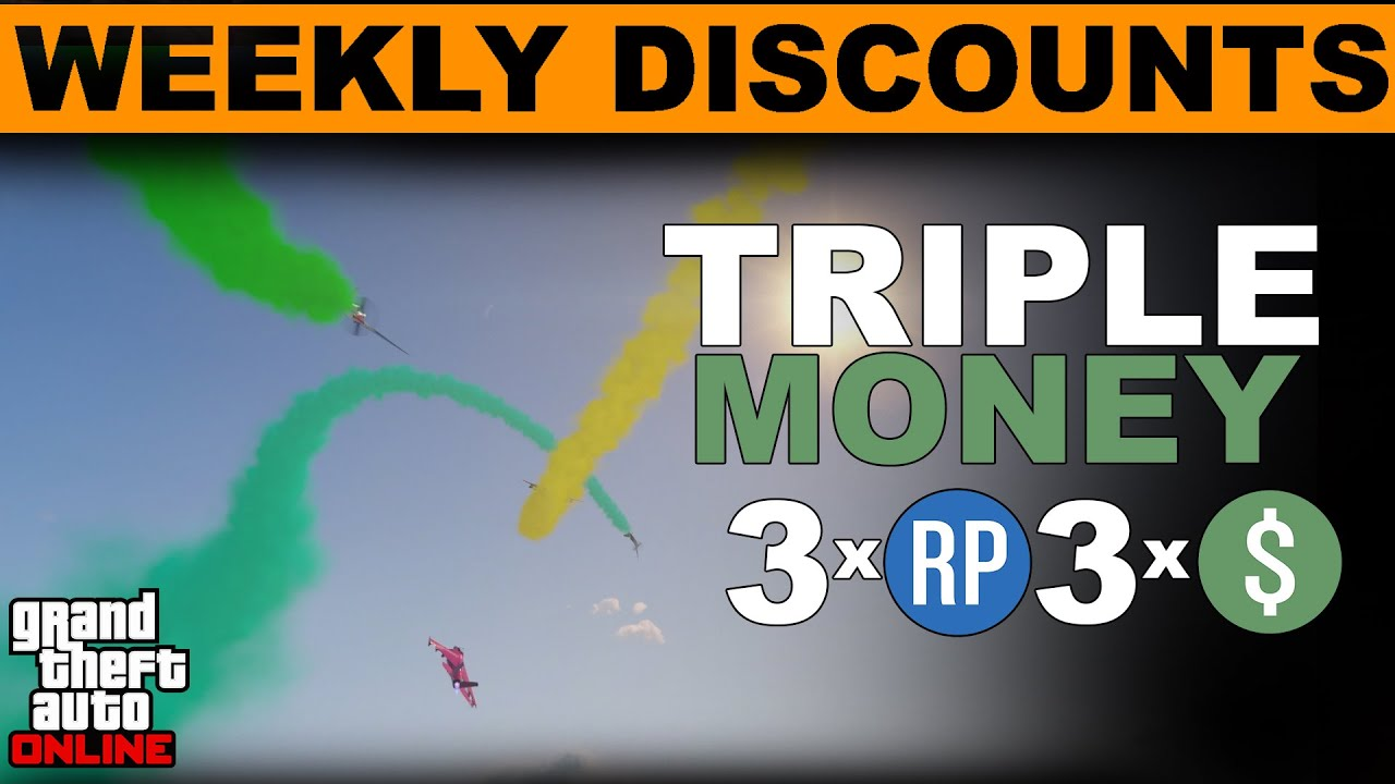 GTA 5 JULY 9th  Triple Money This Week  GTA ONLINE WEEKLY DOUBLE RP AND CASH BONUSES