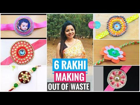 6 Easy Rakhi Design | Rakhi Making | How To Make Rakhi At Home | How To Make Rakhi For Competition