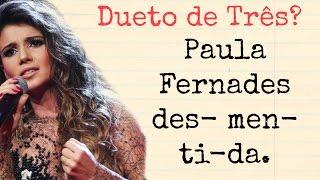 Soprano desmente PAULA FERNANDES em show com Andreia Bocelli
