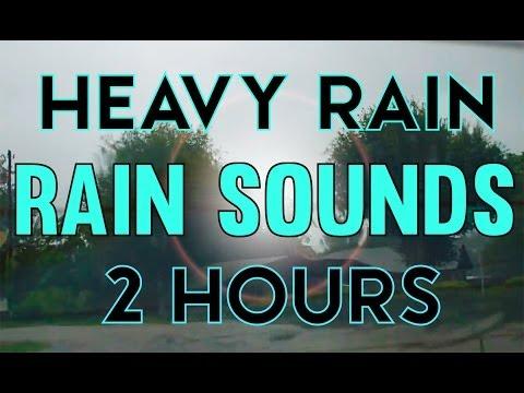 'Rain Sounds' 2hrs of Heavy Rain from Inside a Car 'Sleep Video'