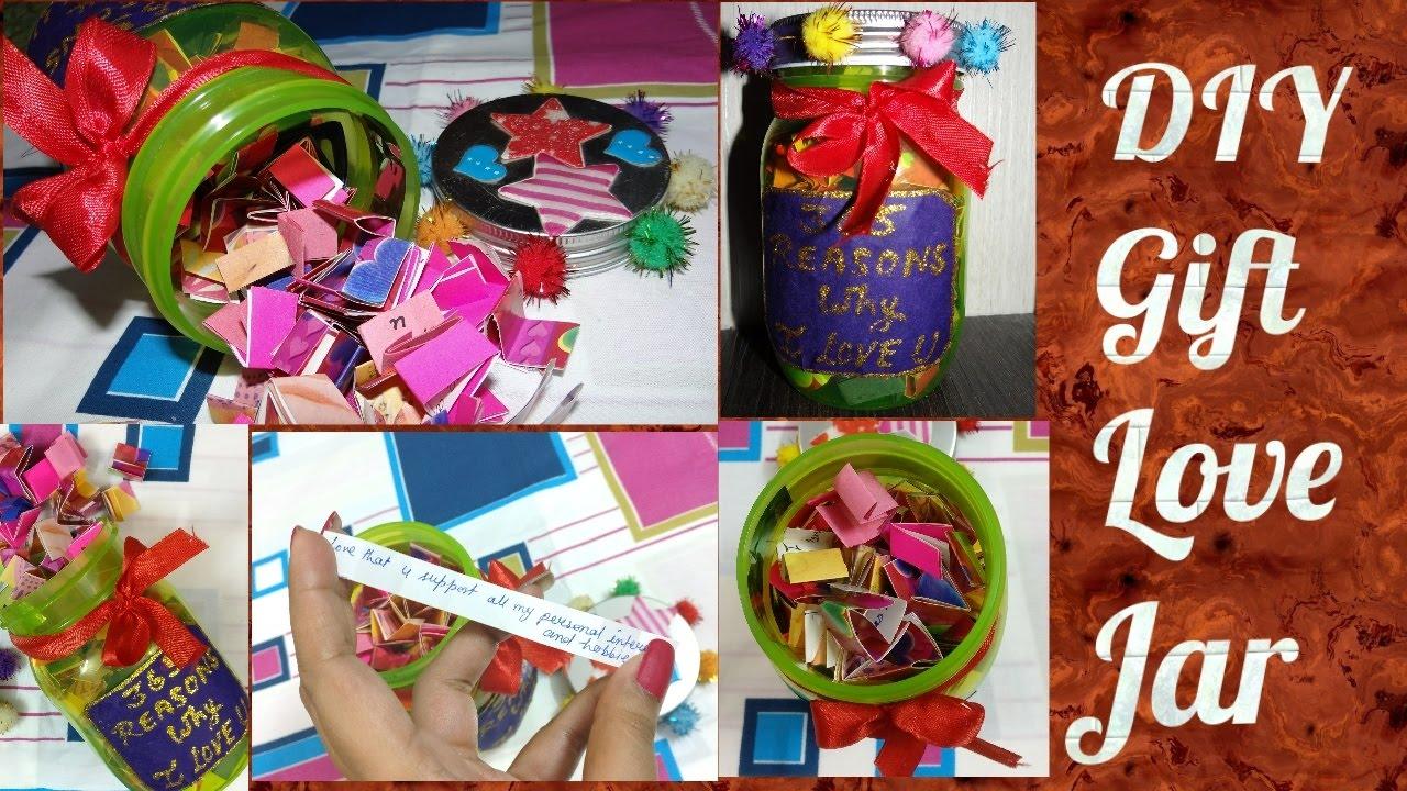 Easy Diy Handmade Gift For Boyfriend Husband Tutorial Love Jar Youtube