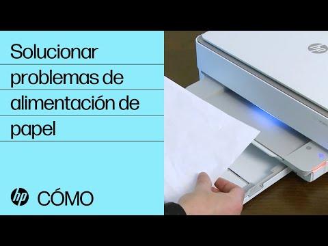 Solucionar problemas de alimentación de papel | HP ENVY 6000/ENVY Pro 6400/DeskJet Plus IA 6000/6400