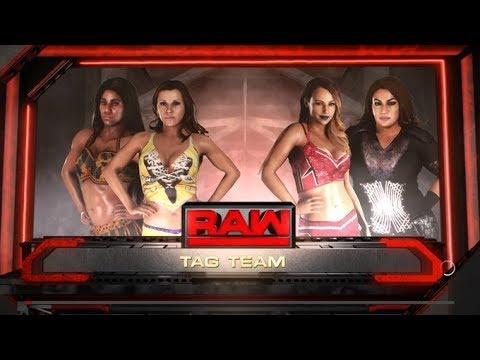 WWE 2K18 RAW MICKIE JAMES & EMBER MOON VS EMMA & NIA JAX