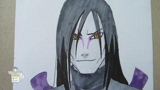 How to draw Orochimaru Legendary sannin 大蛇丸