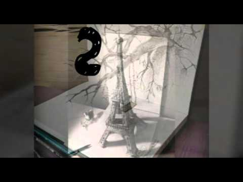 top 10 des plus beaux dessins 3d youtube. Black Bedroom Furniture Sets. Home Design Ideas