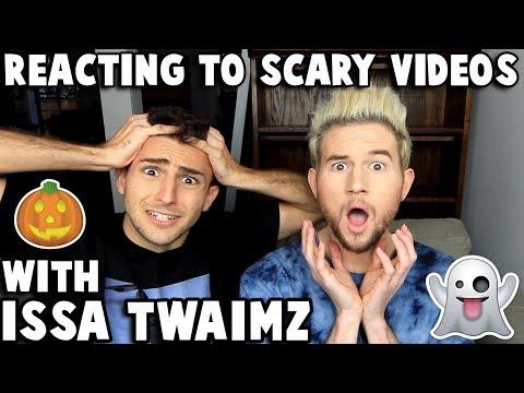 Reacting to CREEPY videos w/ ISSA TWAIMZ