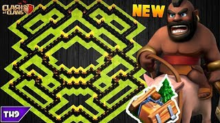 NEW TOWN HALL 8 FARMING/TROPHY BASE 2017! TH8 HYBRID BASE FT. SHRINK TRAP!! - CLASH OF CLANS(COC)