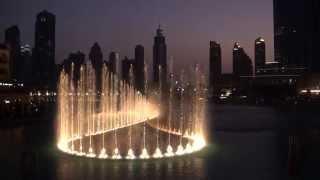 Dubai Maal, Fonte luminosa e Torre Burj Khalifa. Em HD