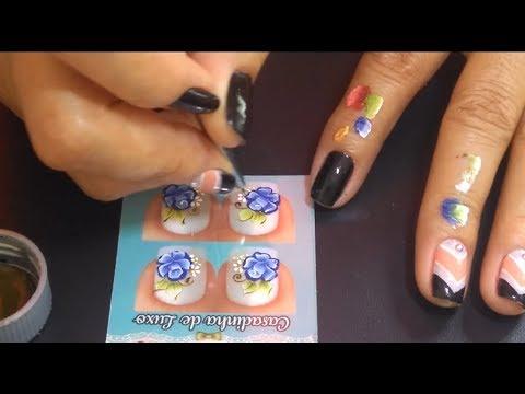Rosas Azuis  - Passo a Passo  #Tati Adesivos Artesanais