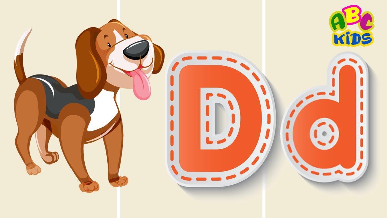Learning Alphabet For Kids D Letter Sound الحروف الإنجليزية للاطفال نطق و كتابة حرف Youtube