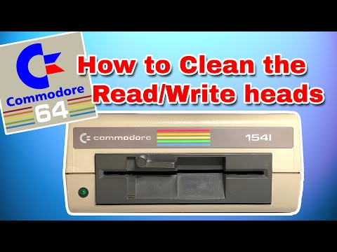 How To Clean Commodore 1541 Drive READ / WRITE Head PLUS 1541-II & 1571  drives