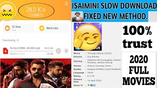 isaimini Slow Download fixed#tamilrockers|Fully working 100%|2020 new method for tamilrockers movies