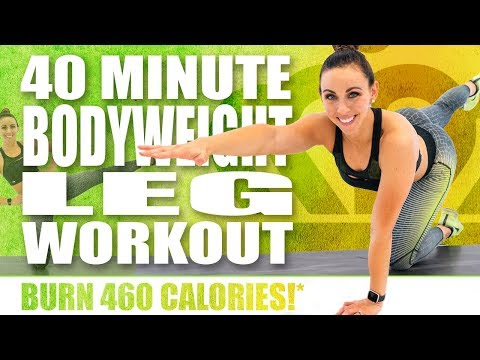 40 Minute BODY WEIGHT LEG WORKOUT 🔥BURN 460 CALORIES!* 🔥Sydney Cummings