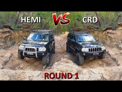Jeep Grand Cherokee 4x4 Challenge - HEMI vs CRD - Part 1