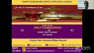 Worship Service and Communion, November 1st 2020