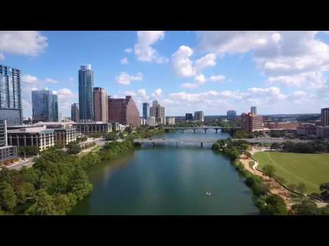 Downtown Austin Skyline Drone Video