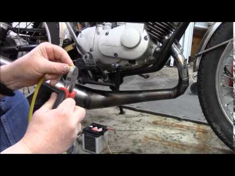 replacing a motorcycle plug wire in a non replaceable wire type coil