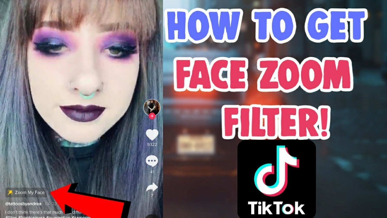 How To Get Face Zoom Effect Tiktok Filter How To Do Face Zoom Effect Filter Tiktok And Icon Youtube